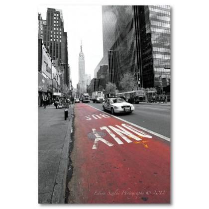 Αφίσα (λεωφορειολορίδα, Νέα Υόρκη, μαύρο, λευκό, άσπρο)